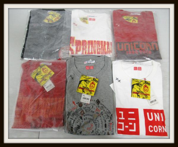 未使用 UNICORN×ユニクロ Tシャツ 6枚セット 詰め合わせ ユニコーン XLサイズ【10