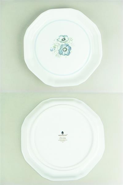 1円~ ウェッジウッド グレンミスト オクタゴナルディッシュ ジャスパープレート 3枚セット 中古_画像2