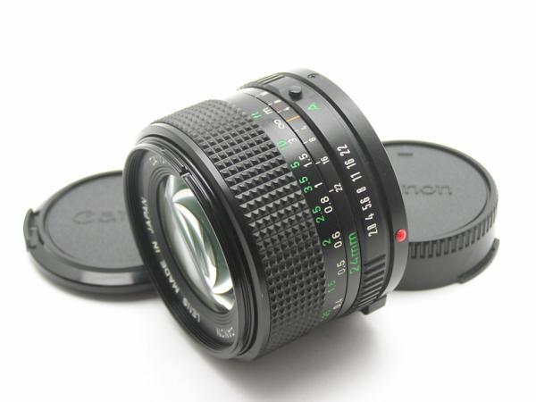 ★ハロ-カメラ★5704 Canon New FD 24mm F2.8  動作品 マニュアル用 現状