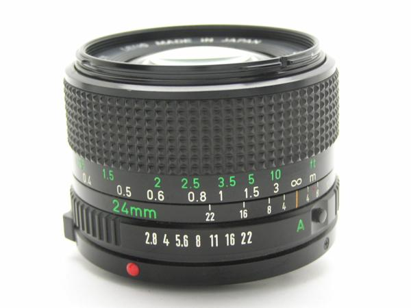 ★ハロ-カメラ★5704 Canon New FD 24mm F2.8  動作品 マニュアル用 現状_画像4