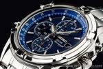 1円 セイコー 海外 ソーラー充電 サファイアブルー アラーム機能 クロノグラフ 腕時計