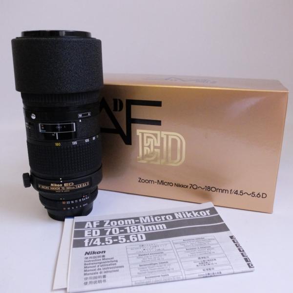 ♪Nikon ZOOM Nikkor AF ED 70-180mm f/4.5~5.6D 美品 ニコン@F274