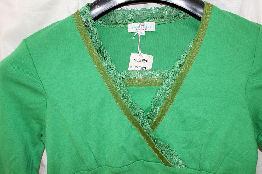 パシフィックコースト PACIFIC COAST レディース長袖Tシャツ Lサイズ グリーン 新品_画像2