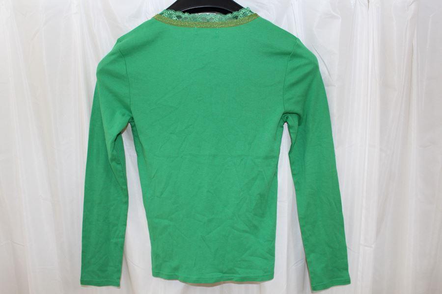 パシフィックコースト PACIFIC COAST レディース長袖Tシャツ Lサイズ グリーン 新品_画像3