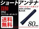 カーボンアンテナ 黒 ショート 80mm ユーロタイプ 送料
