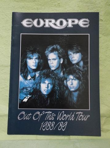 EUROPE ヨーロッパ 1988/89 ワールドツアーパンフ