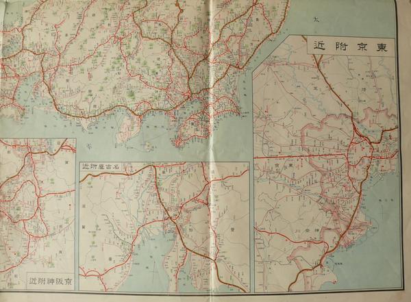 昭和11年 最新大日本鐵道地図 鐵道省 鉄道 0327G10Q_画像3