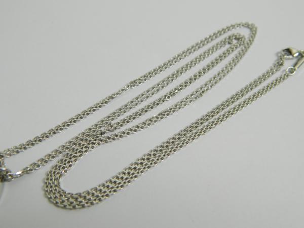 保証書 ショパール K18WG ダイヤ ダブルチェーン ネックレス  _画像9