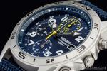 1円 セイコー 海外 SEIKO ミリタリー ブルー 100m防水 クロノグラフ 腕時計