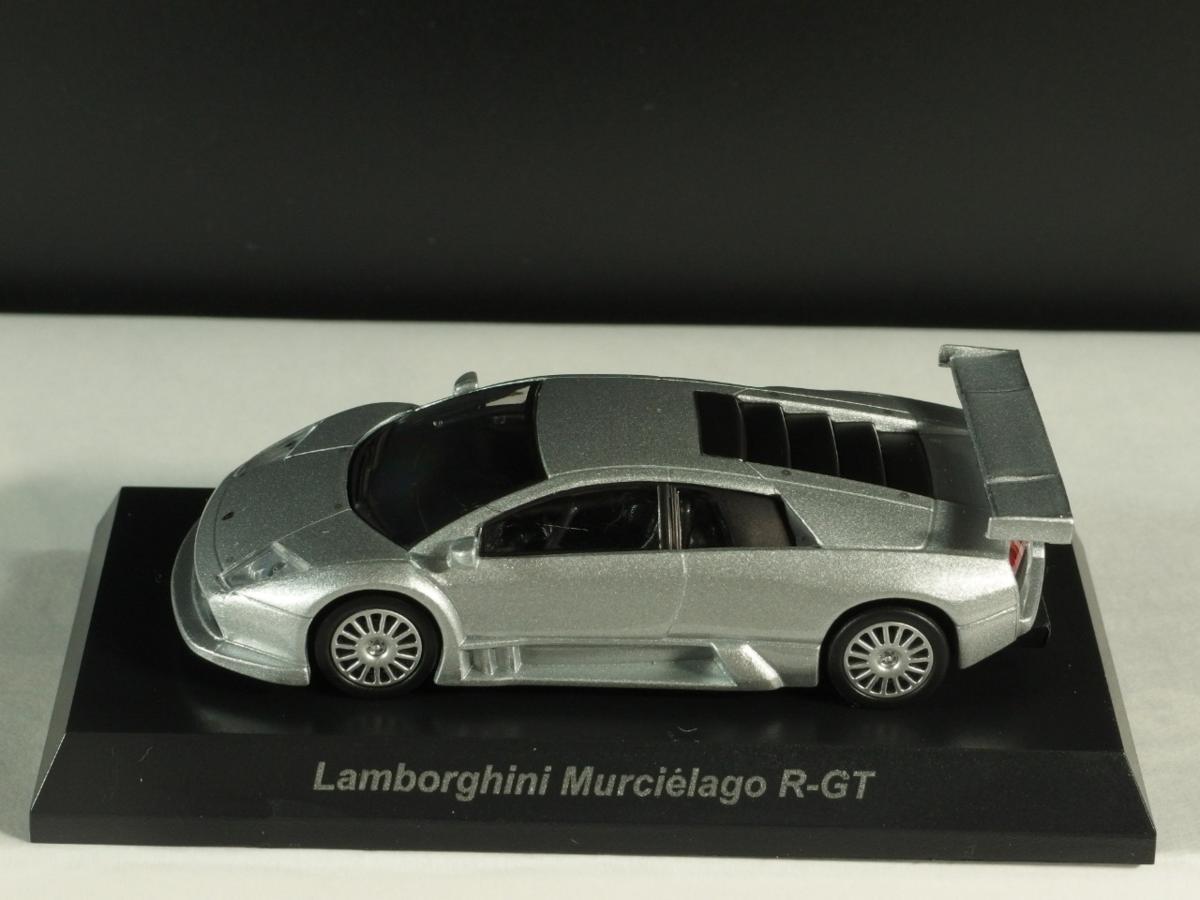 ∵1/64 京商ミニカー ランボルギーニ5 ムルシエラゴR-GT銀_画像2