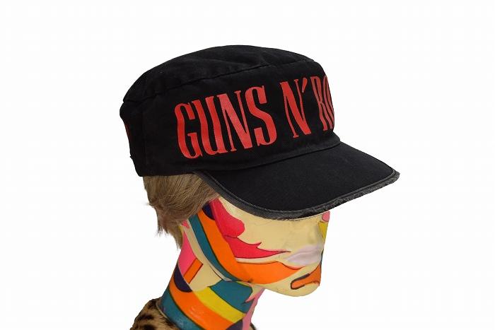 【フリーサイズ】 90's ガンズ&ローゼス ヴィンテージ ワークキャップ 帽子 ロックt GUNS N' ROSES GunsN'Roses USE YOUR ILLUSION 古着_画像4