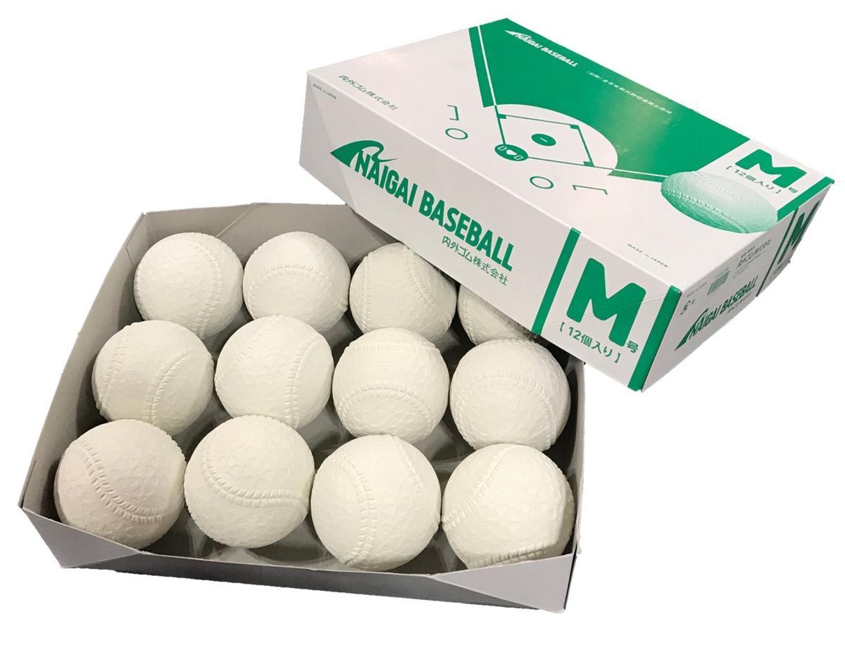 いつでも出荷可能! ナイガイ  新規格 軟式M号  ダース販売=12個 公認試合球 一般用 中学生用_画像1