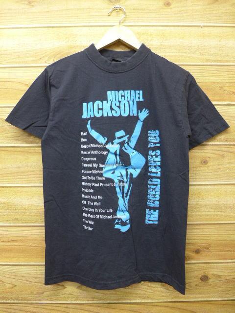 S★古着 中古 ロック バンド Tシャツ マイケルジャクソン 黒 17may30 ライブグッズの画像