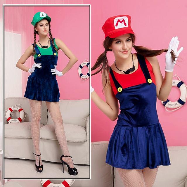 スーパーマリオ コスプレ衣装 ハロウィン 服 レッド M グッズの画像