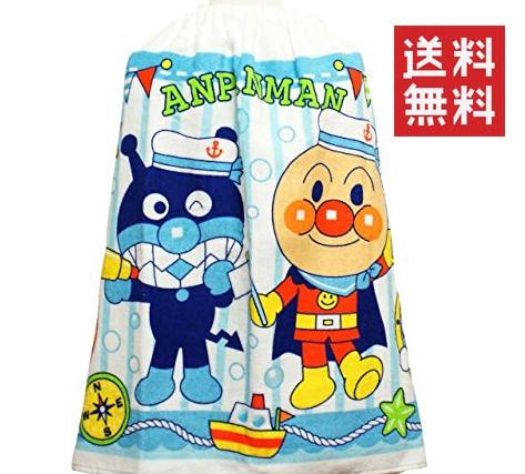 ◆20 アンパンマン プール用 巻きタオル アンパンマンとバイキンマン(50×100cm) 送料無料 グッズの画像