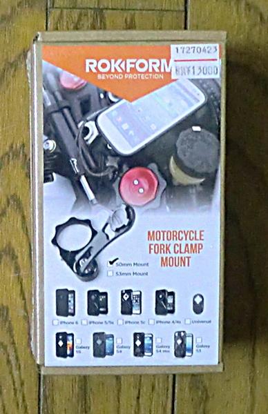 KM★ROKFORM バイクマウント v3モトマウント フォーククランプ 53mm_画像2