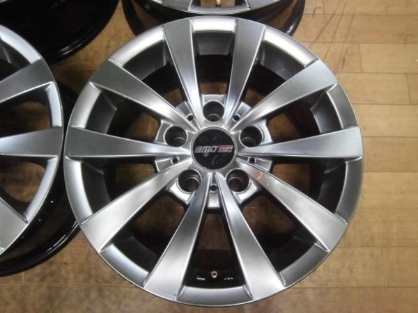 社外品 MOTEC GLEN モーテック グレン 4本 5H-120 16×7J+20 BMW 5シリーズ E39 スタッドレス用ホイールにも!_画像2