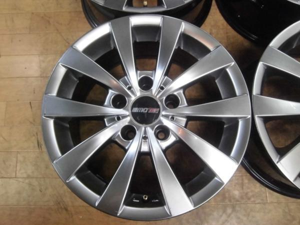 社外品 MOTEC GLEN モーテック グレン 4本 5H-120 16×7J+20 BMW 5シリーズ E39 スタッドレス用ホイールにも!_画像3