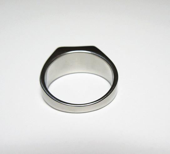 新品 四角形 ブラックストーン ビジネス ステンレス 指輪リング_画像9