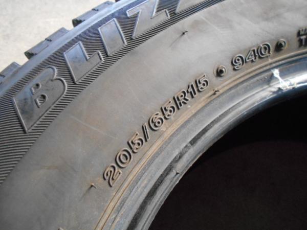 【BRIDGESTONE】激安税込!BLIZZAK REVO GZ☆205/65R15☆7分山[冬用1504]4本_画像3