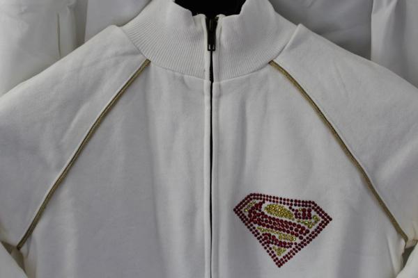 サディスティックアクション SADISTIC ACTION レディーススーパーマントラックジャケット ホワイトxゴールド 新品_画像3