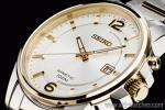 1円 セイコー 日本未発売 SEIKO キネティック搭載 ゴールド&シルバー 腕時計