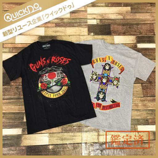 ガンズアンドローゼズ GUNS N' ROSES JAPAN TOUR 2017 半袖 Tシャツ 綿 M メンズ グレー系 黒系 計2点 セット ライブグッズの画像