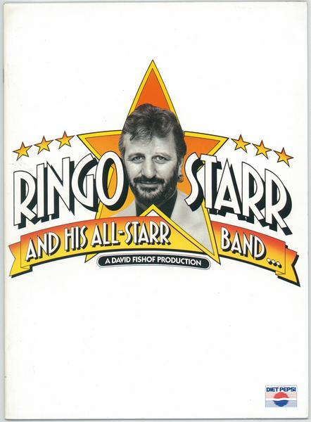 ビートルズ RINGO STARR&HIS ALL STARR BANDツアー パンフレット