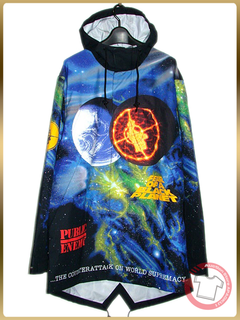 100■18SS新作 Supreme×UNDERCOVER×Public Enemy Taped Seam Parka M ジャケット パーカー_画像2