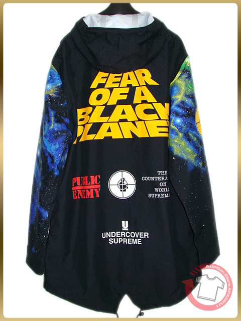 100■18SS新作 Supreme×UNDERCOVER×Public Enemy Taped Seam Parka M ジャケット パーカー_画像3