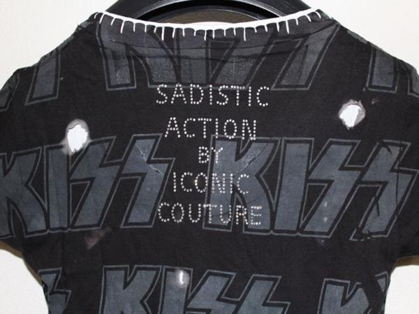 サディスティックアクション SADISTIC ACTION ICONIC アイコニック レディース半袖Tシャツ KISS Mサイズ 新品_画像7