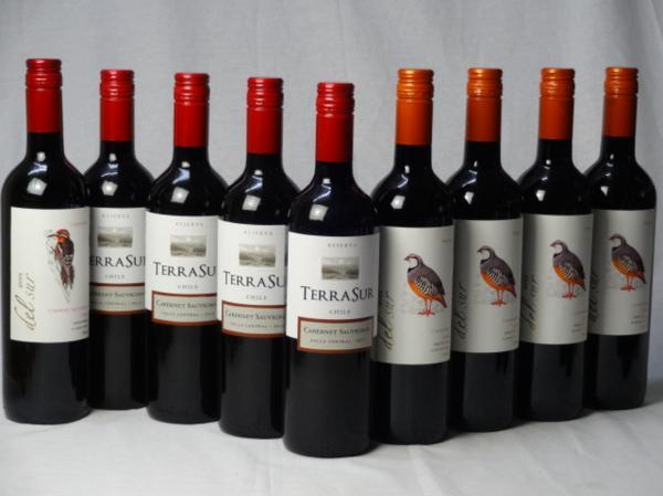 チリ赤ワイン9本セット デル・スール カベルネ・ソーヴィニ_画像1