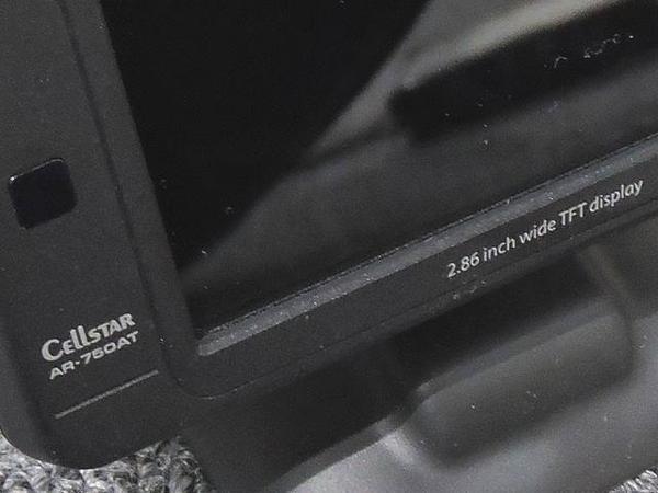 CELLSTAR セルスター◇ASSURA AR-750AT Gセンサー搭載 2.86インチ モニター GPS レーダー探知機▼29G_画像3