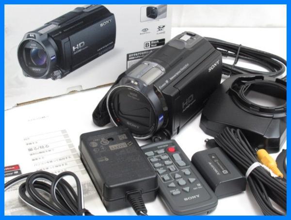 52637◆美品 SONY/ソニー デジタルHD ビデオカメラ レコーダー HDR-CX720V/動作品/12年製/箱付き/ハンディカム