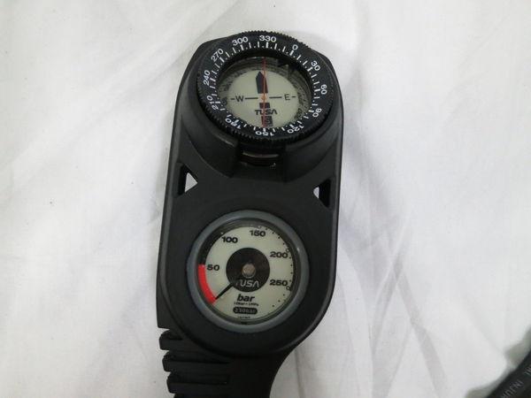 [美品1円] TUSA ツサ ダイビング レギュレーター EN250 ゲージ セット 使用回数極少 重機材_画像5
