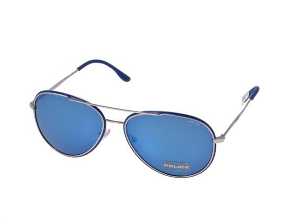 [銀蔵]新品ポリスPOLICE サングラス GLORY S8299-502B ブルー_画像1