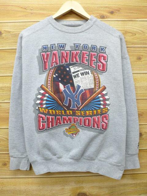 XL★古着 中古 スウェット 90年代 スターター MLB ニューヨークヤンキース USA製 グレー 霜降り 17may10 グッズの画像