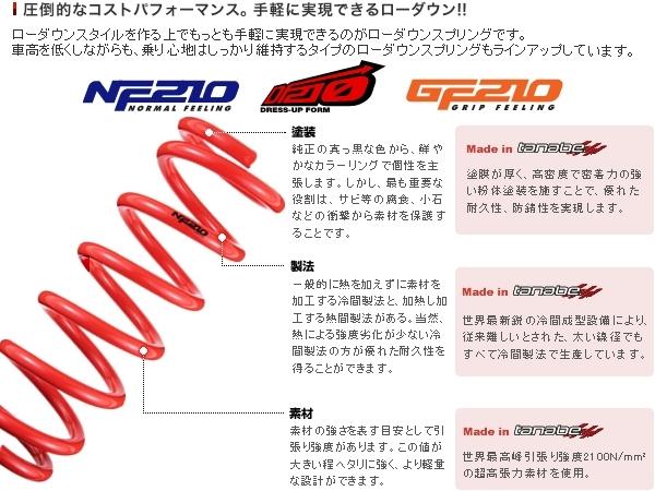 タナベ tanabe NF210 ダウンサス アテンザスポーツ GH5FS GH5FWNK3