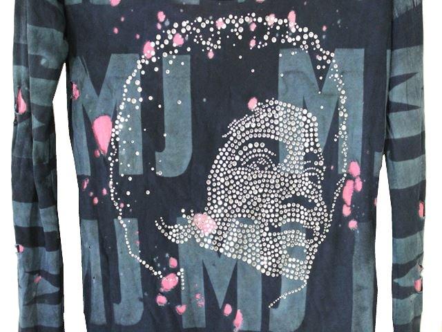 アイコニック ICONIC レディースマイケルジャクソン長袖Tシャツ グリーン Sサイズ Michael Jackson 新品_画像3