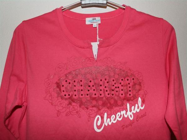 パシフィックコースト PACIFIC COAST レディース7分Tシャツ Mサイズ ピンク 新品_画像2