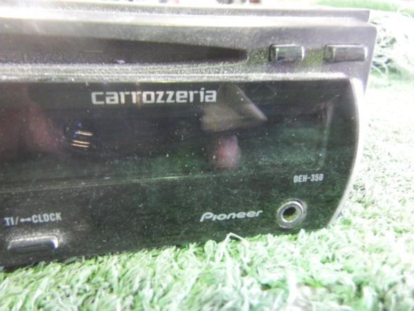 ▲carrozzeria 1DIN CDデッキ DEH-350_画像2