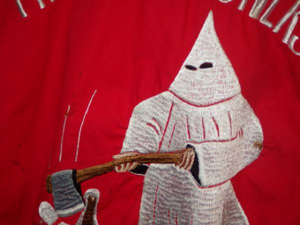 一撃落札★60'S★ボーリングシャツ★クークラックスクラン★赤M★ビンテージ★秘密結社★Ku Klux Klan★悪趣味★スカル★デビル★KKK_画像8