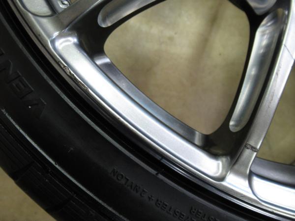 1円スタート!86・BRZ、プリウス他に!鍛造・軽量!RAYS VolkRacing G12 8J-19+50,8.5J-19+45 pcd100/5H 225/35ZR19 タイヤ付き4本セット_画像3