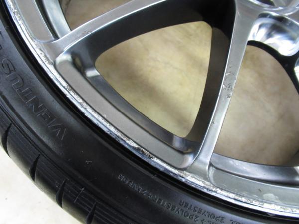 1円スタート!86・BRZ、プリウス他に!鍛造・軽量!RAYS VolkRacing G12 8J-19+50,8.5J-19+45 pcd100/5H 225/35ZR19 タイヤ付き4本セット_画像5