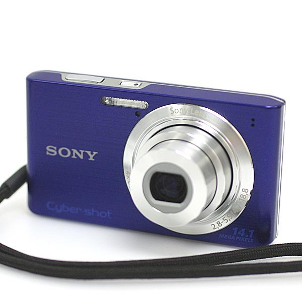 1円~ 美品 SONY ソニーCyber-shot サイバーショット DSC-W610 1410万画素 デジタルカメラ デジカメ 2.7型液晶 ブルー パープル系