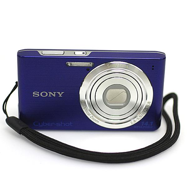 1円~ 美品 SONY ソニーCyber-shot サイバーショット DSC-W610 1410万画素 デジタルカメラ デジカメ 2.7型液晶 ブルー パープル系_画像2
