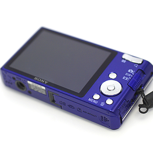 1円~ 美品 SONY ソニーCyber-shot サイバーショット DSC-W610 1410万画素 デジタルカメラ デジカメ 2.7型液晶 ブルー パープル系_画像3