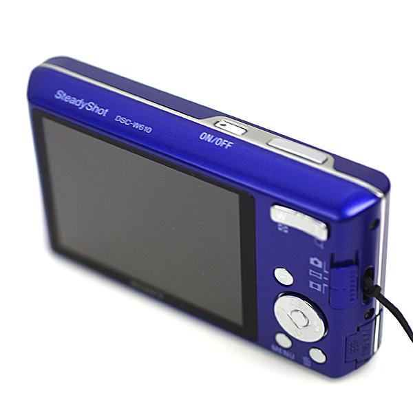 1円~ 美品 SONY ソニーCyber-shot サイバーショット DSC-W610 1410万画素 デジタルカメラ デジカメ 2.7型液晶 ブルー パープル系_画像4