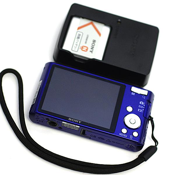 1円~ 美品 SONY ソニーCyber-shot サイバーショット DSC-W610 1410万画素 デジタルカメラ デジカメ 2.7型液晶 ブルー パープル系_画像6