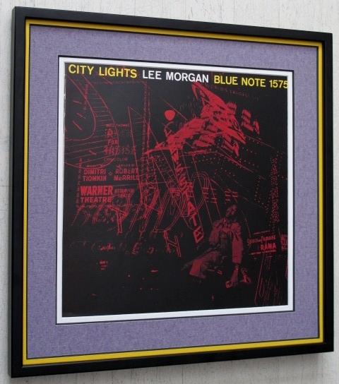 リー・モーガン/シティ・ライツ/レコジャケ・ポスター額入/Lee Morgan/City Light/Framed Blue note Art/ジャケ買いブルーノート